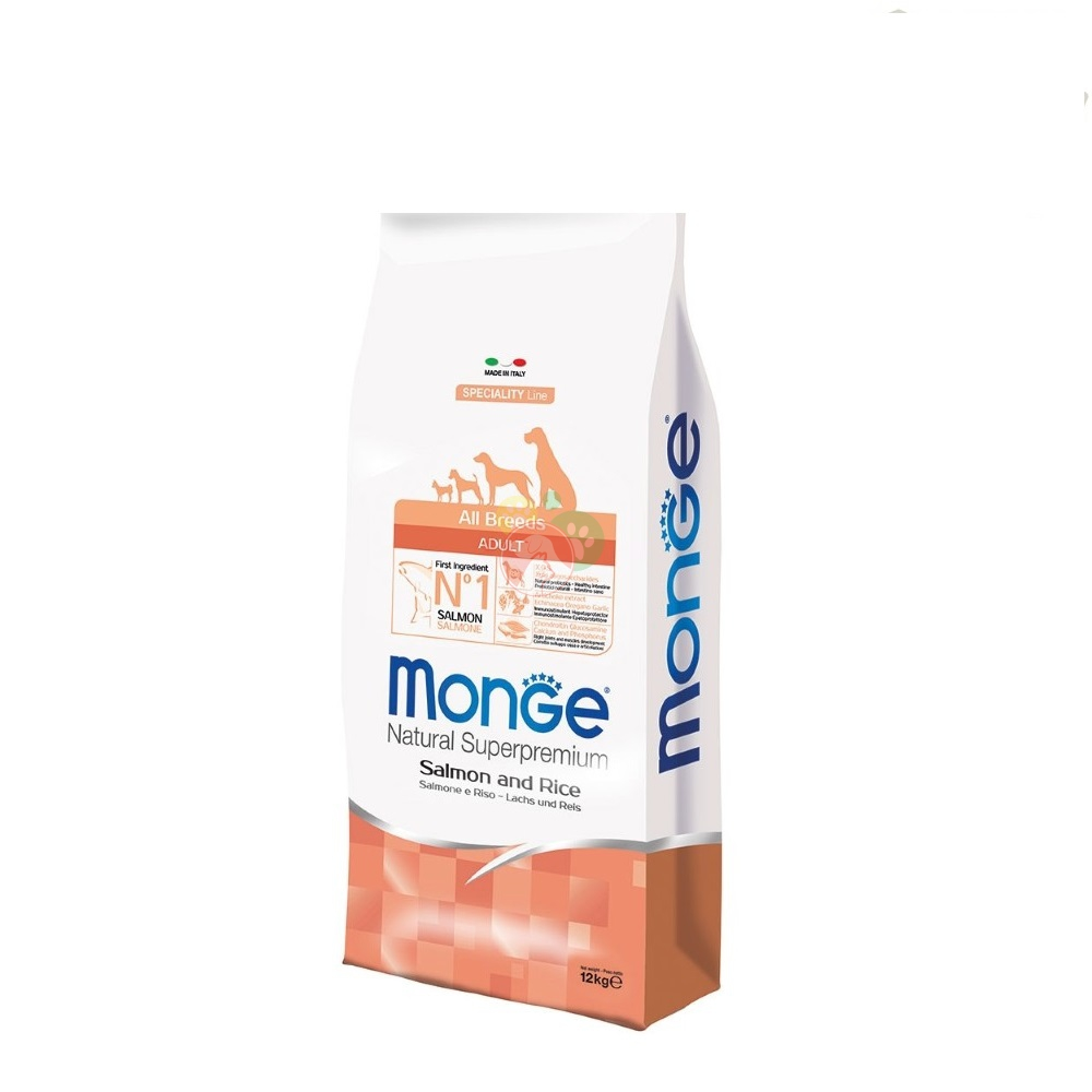 Monge Natural Superpremium SpecialityLine Adult All Breeds Salmone e Riso 12Kg
