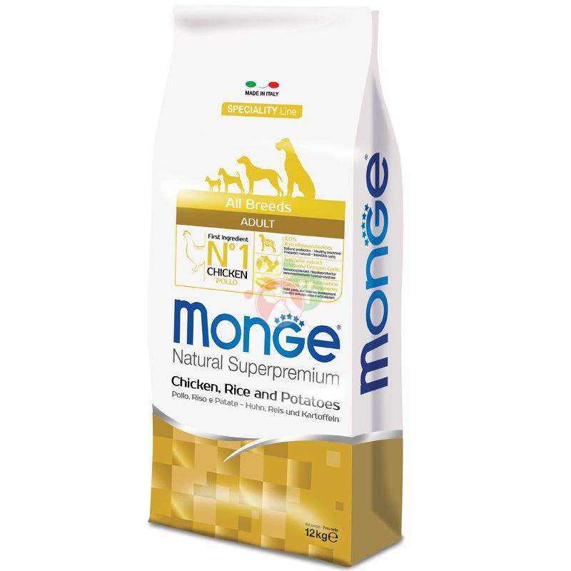 Monge NaturalSuperpremium SpecialityLine Adult All Breeds Pollo,Riso,Patate 12Kg