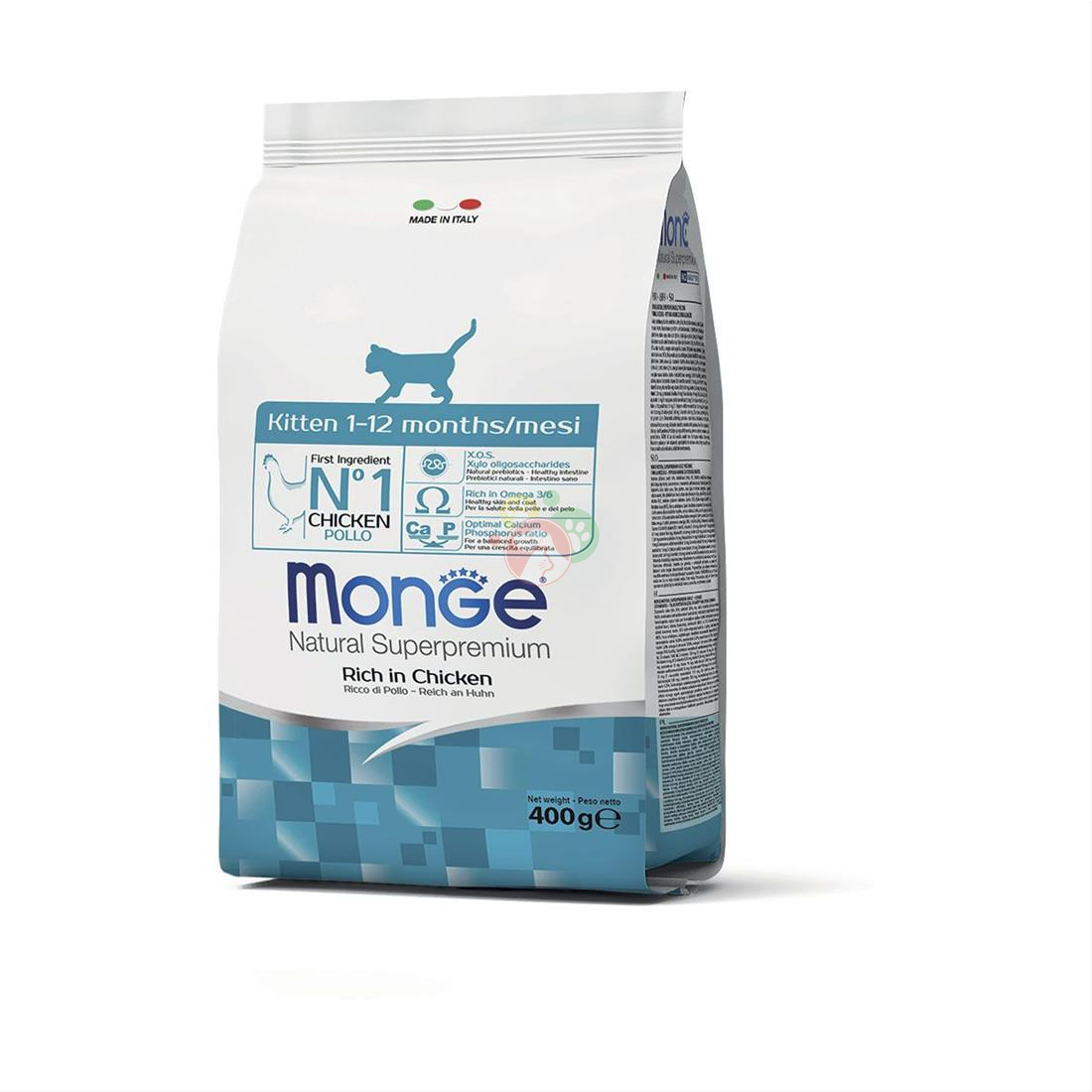 Monge Natural Superpremium Kitten Crocchette di Pollo Da 400g Gattini