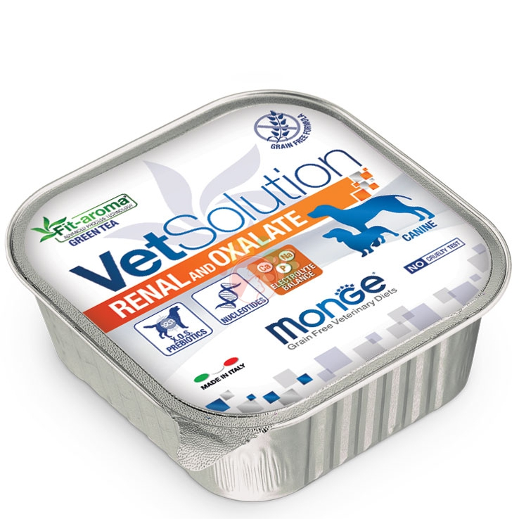 Monge Vetsolution Renal And Oxalate Canine Scatoletta Da 150g Cani Adulti