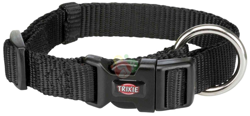 Trixie Premium Collare Nero L-XL 40-65Cm/25mm